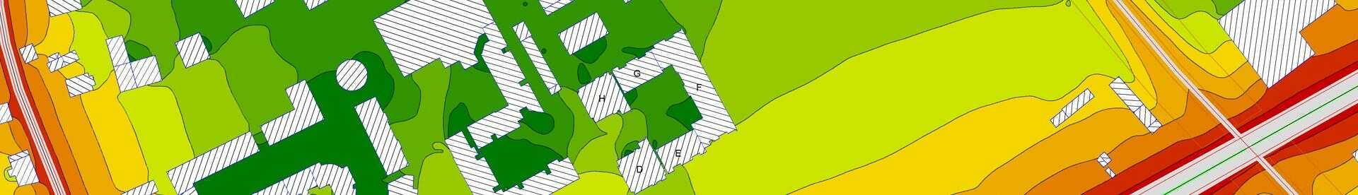 baner z planem działkowym